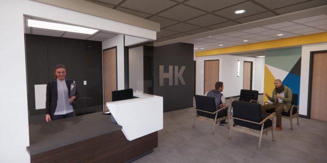 Architect's rendering of lobby interior